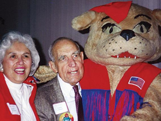 Stella and Swede Johnson with Wilma